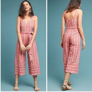 Anthropologie Robin Cropped Wide-Leg Jumpsuit